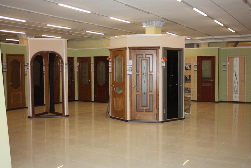 двери металлические выставочный зал